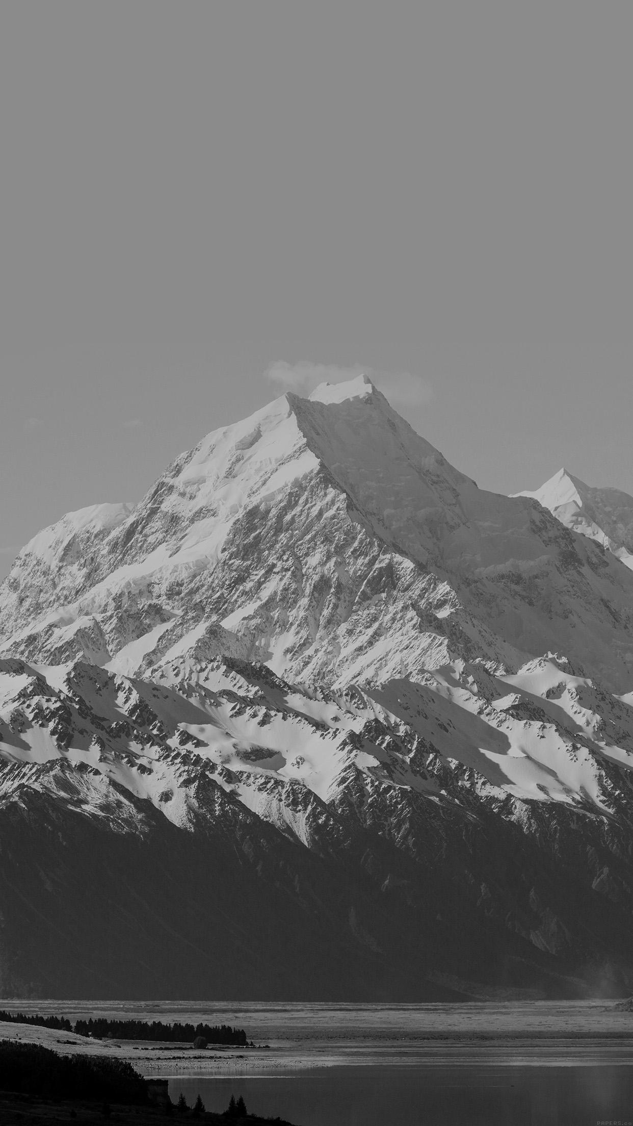 mm64-mountain-snow-lake-dark-bw-nature ...
