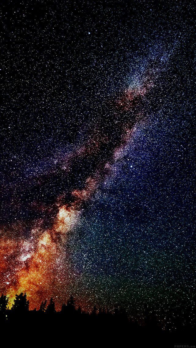 freeios8.com-iphone-4-5-6-plus-ipad-ios8-mm73-star-gazing-night-flare-color-green-nature-sky