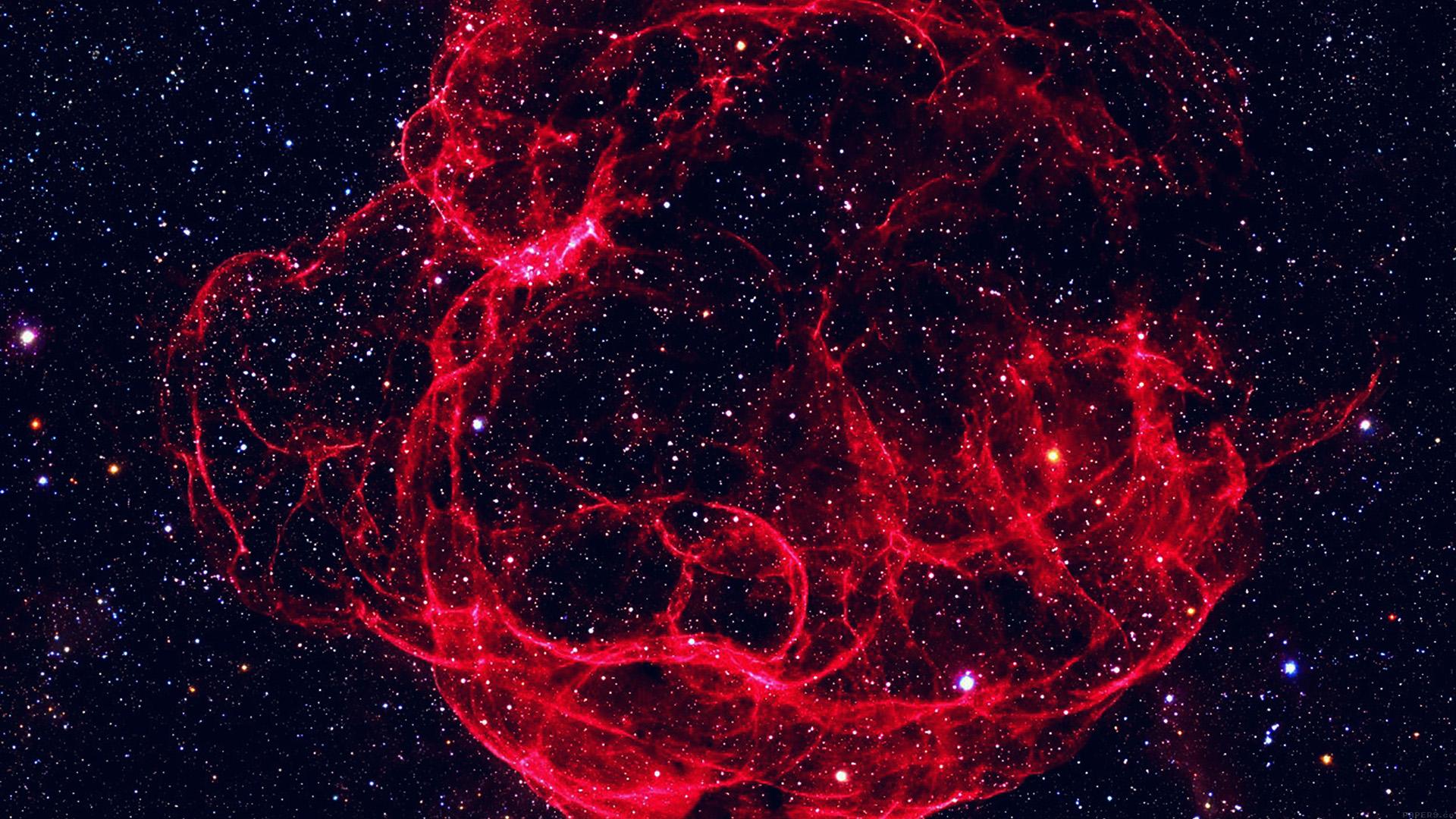 Mn17 Space Red Blue Bigbang Star Art Nature Wallpaper