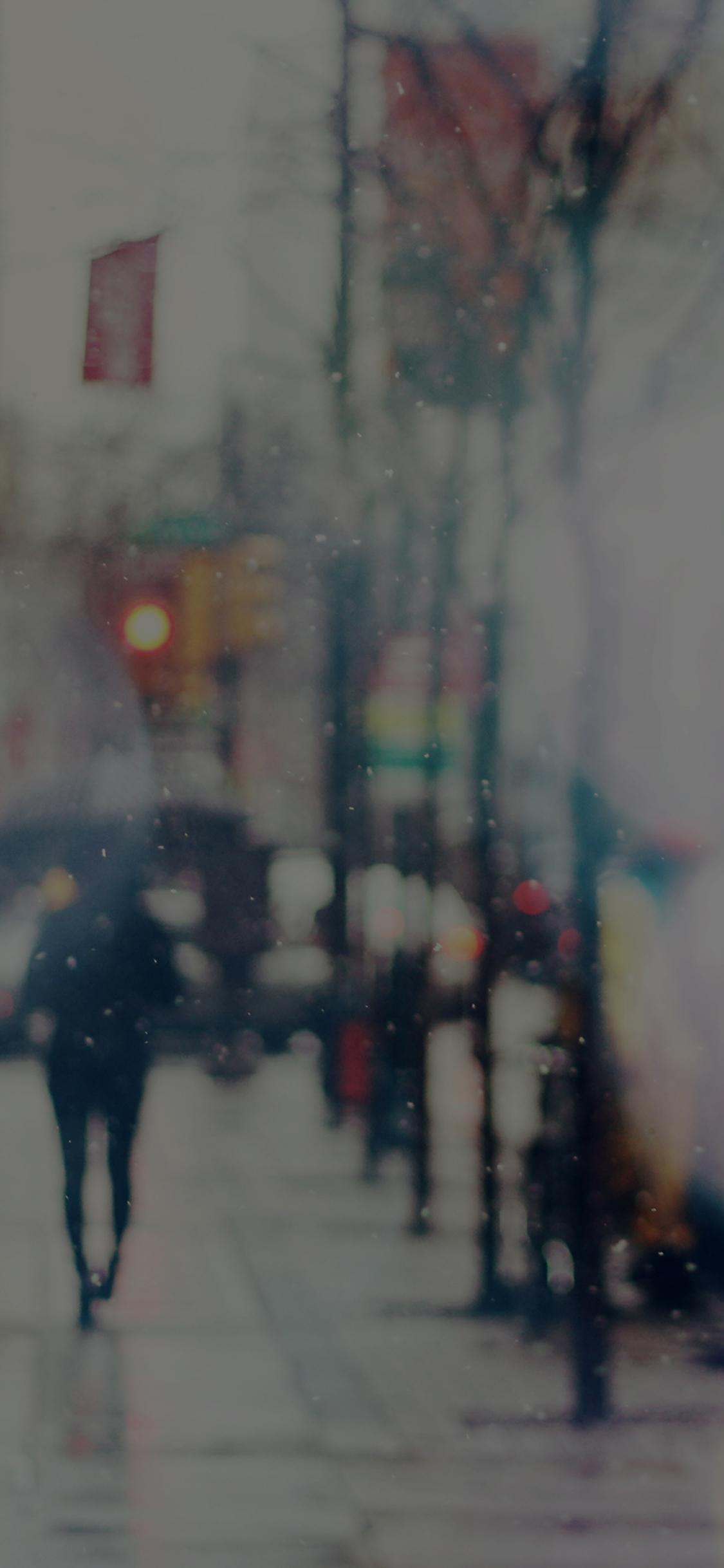 iPhoneXpapers.com-Apple-iPhone-wallpaper-mn28-snow-street-bokeh-dark-winter-walk-city-day-nature