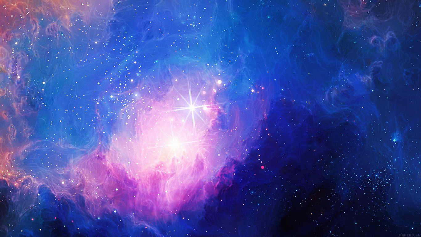 mn48-space-aurora-art-star-illust-blue-rainbow - Papers.co