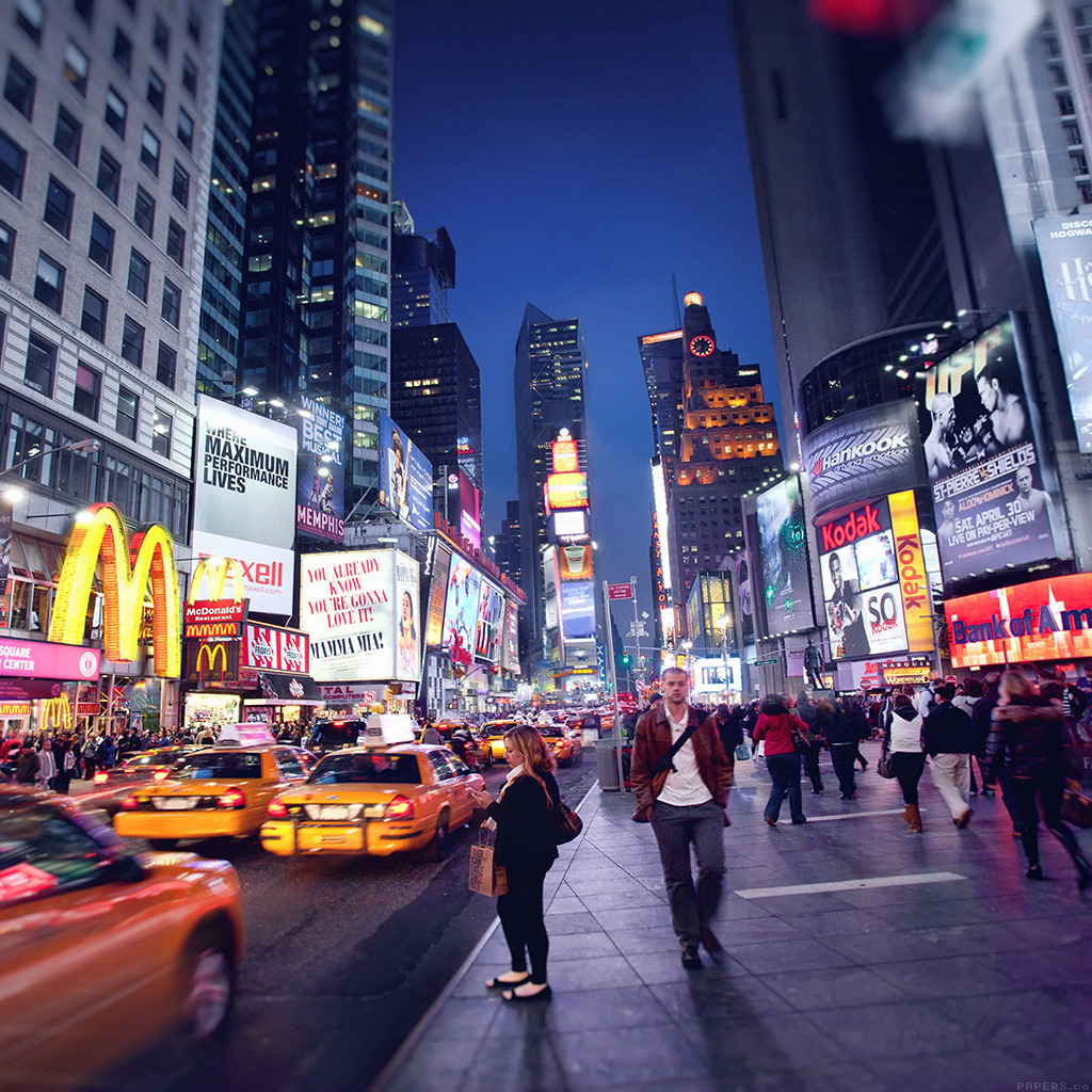 Samsung Wallpaper: Mn64-new-york-street-night-city