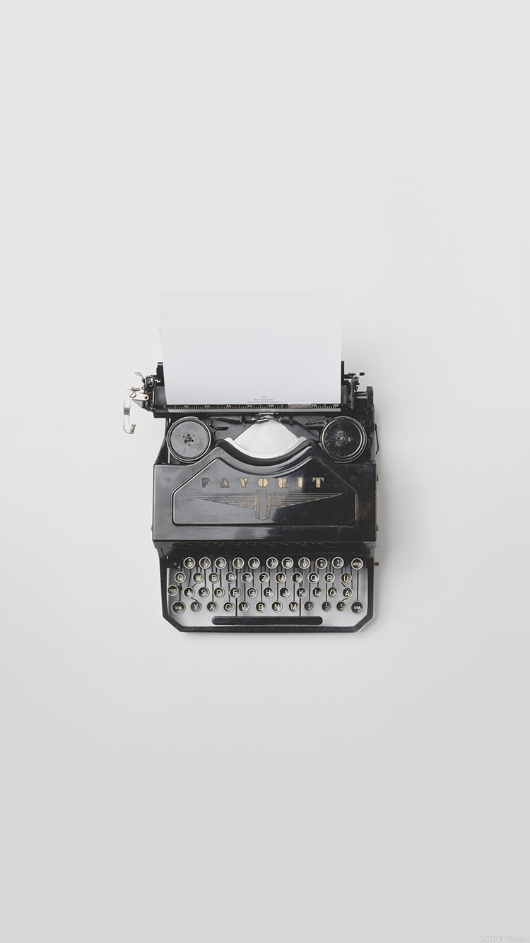 iPhonepapers.com-Apple-iPhone8-wallpaper-mn77-florian-klauer-type-writer-minimal