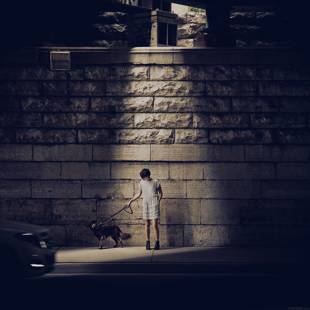 wallpaper-mn89-woman-dog-street-blue-matthew-wiebe-wallpaper
