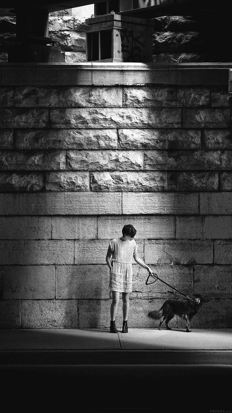 iPhonepapers.com-Apple-iPhone8-wallpaper-mn90-woman-dog-street-dark-bw-matthew-wiebe