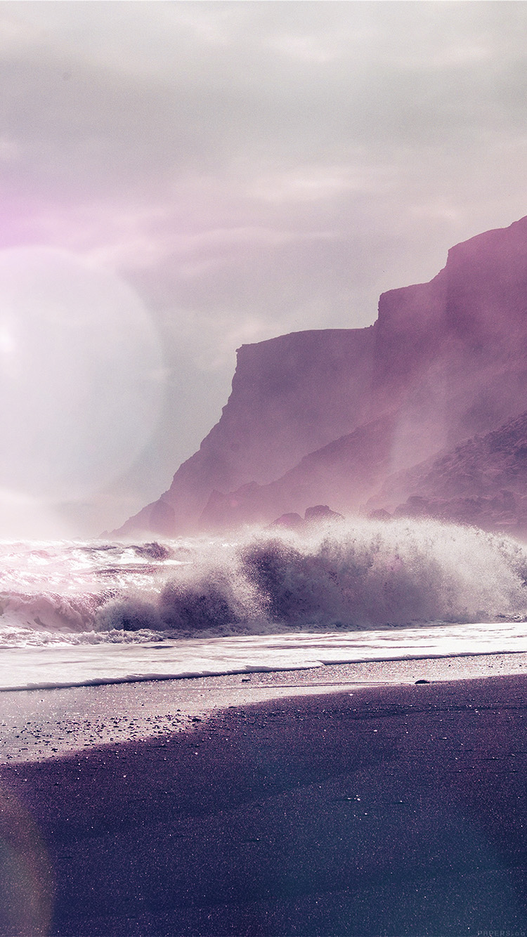 iPhone6papers.co-Apple-iPhone-6-iphone6-plus-wallpaper-mp58-sea-beach-nature-purple-flare