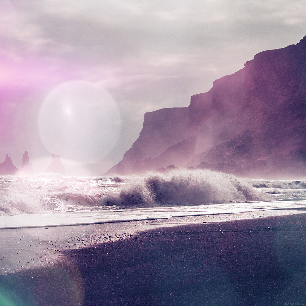 android-wallpaper-mp58-sea-beach-nature-purple-flare-wallpaper