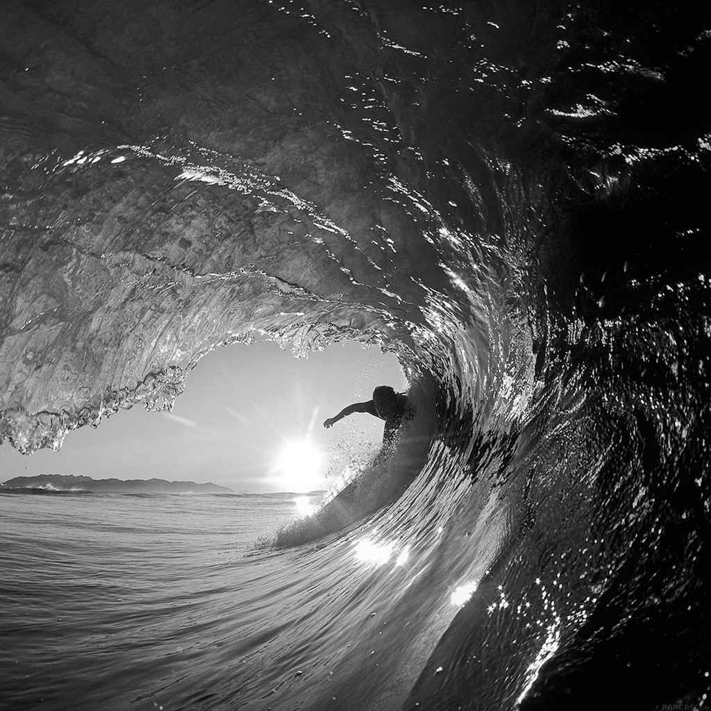 wallpaper-mq07-surf-wave-sea-nature-sunshine-bw-dark-wallpaper
