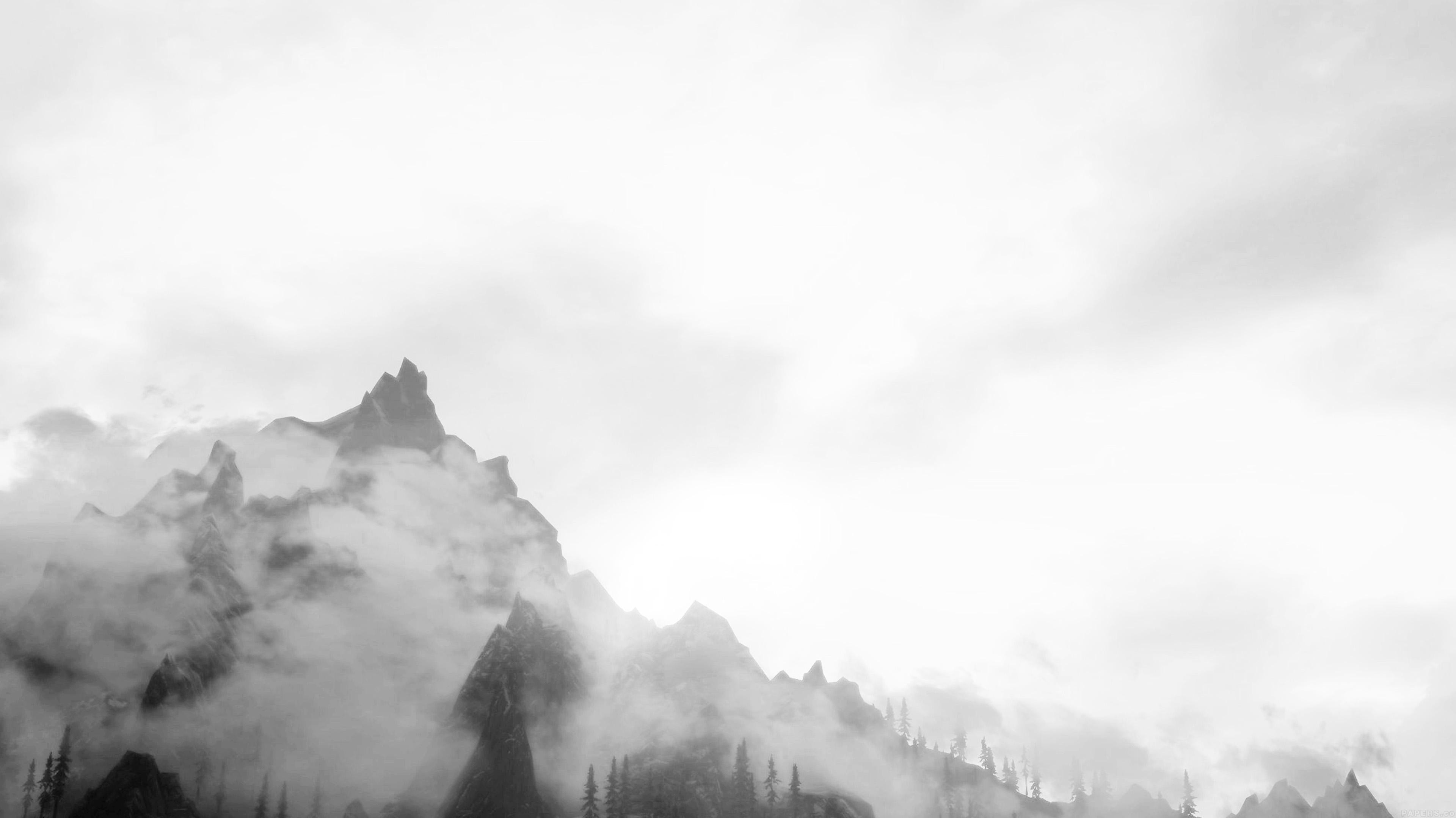 Papers Co Desktop Wallpaper Mq30 Foggy Mountain Sunshine