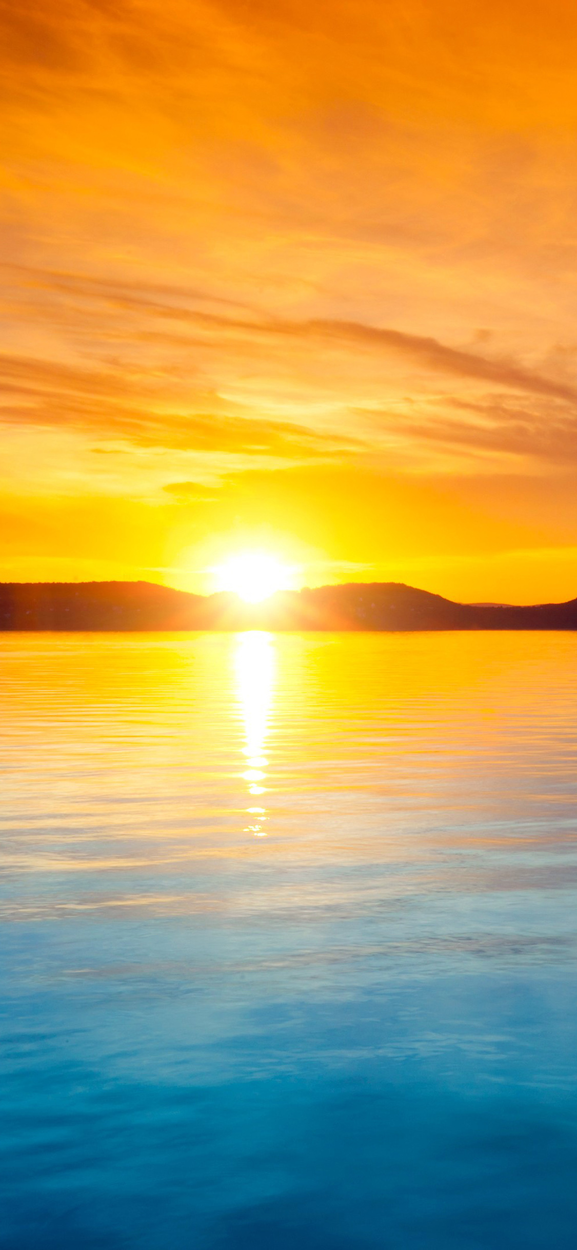 iPhonexpapers.com-Apple-iPhone-wallpaper-mq39-sunset-night-lake-water-sky-orange