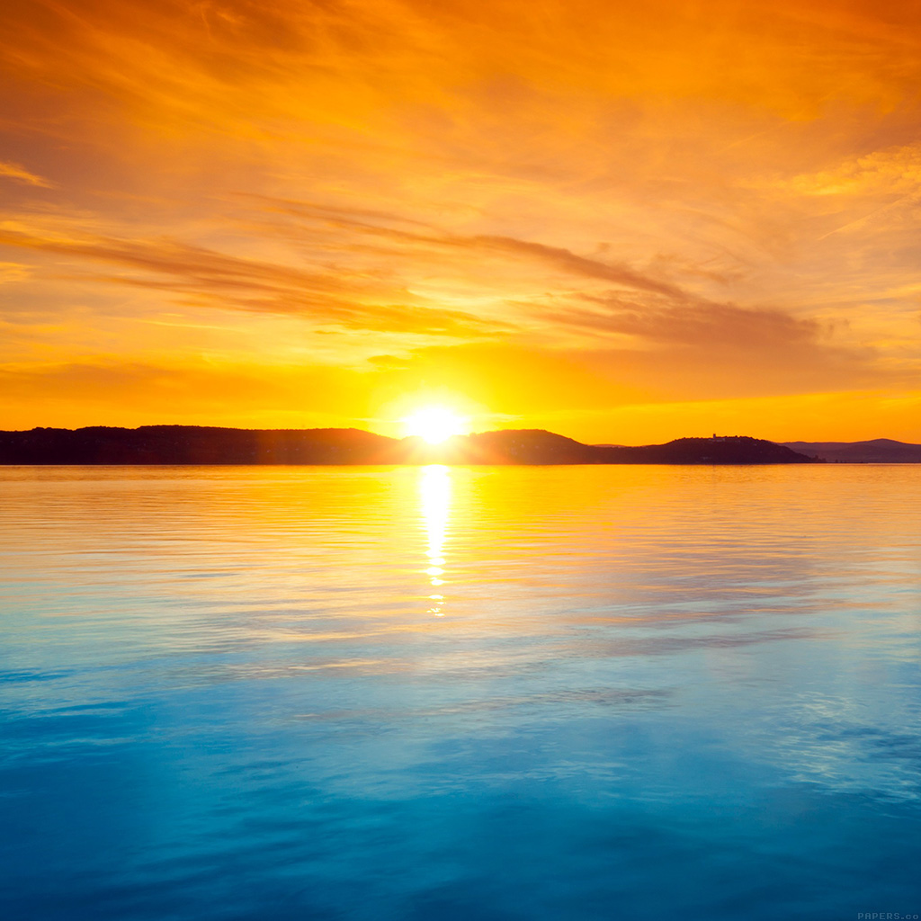 wallpaper-mq39-sunset-night-lake-water-sky-orange-wallpaper