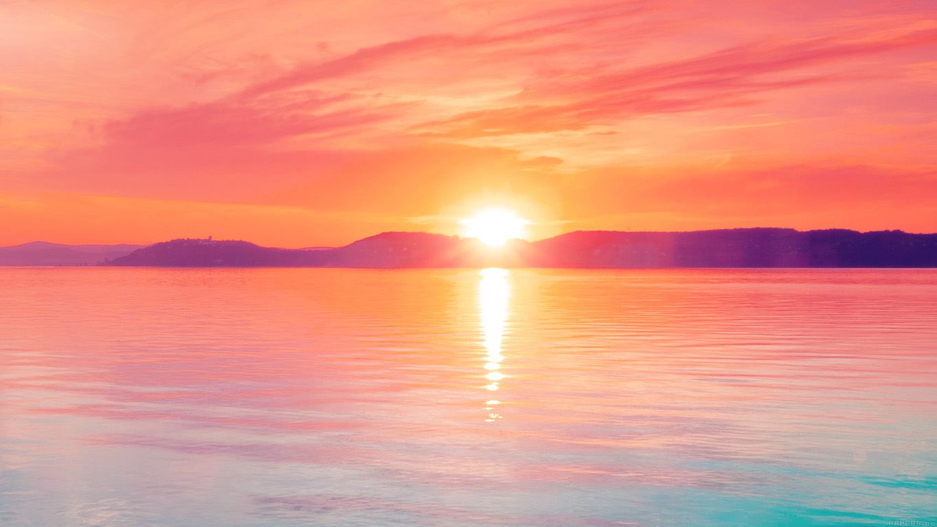 desktop-wallpaper-laptop-mac-macbook-airmq41-sunset-night-lake-water-sky-red-flare-wallpaper