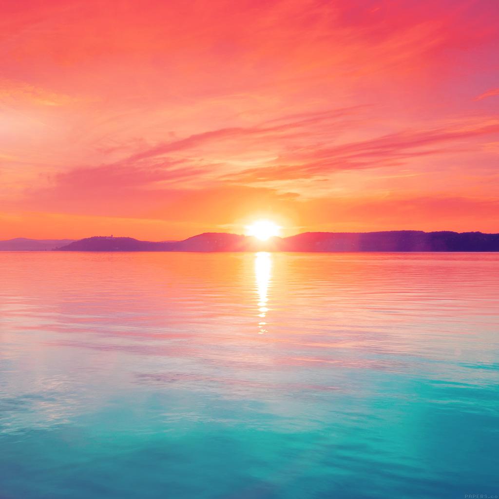 Papers Co Ipad Wallpaper Mq41 Sunset Night Lake Water
