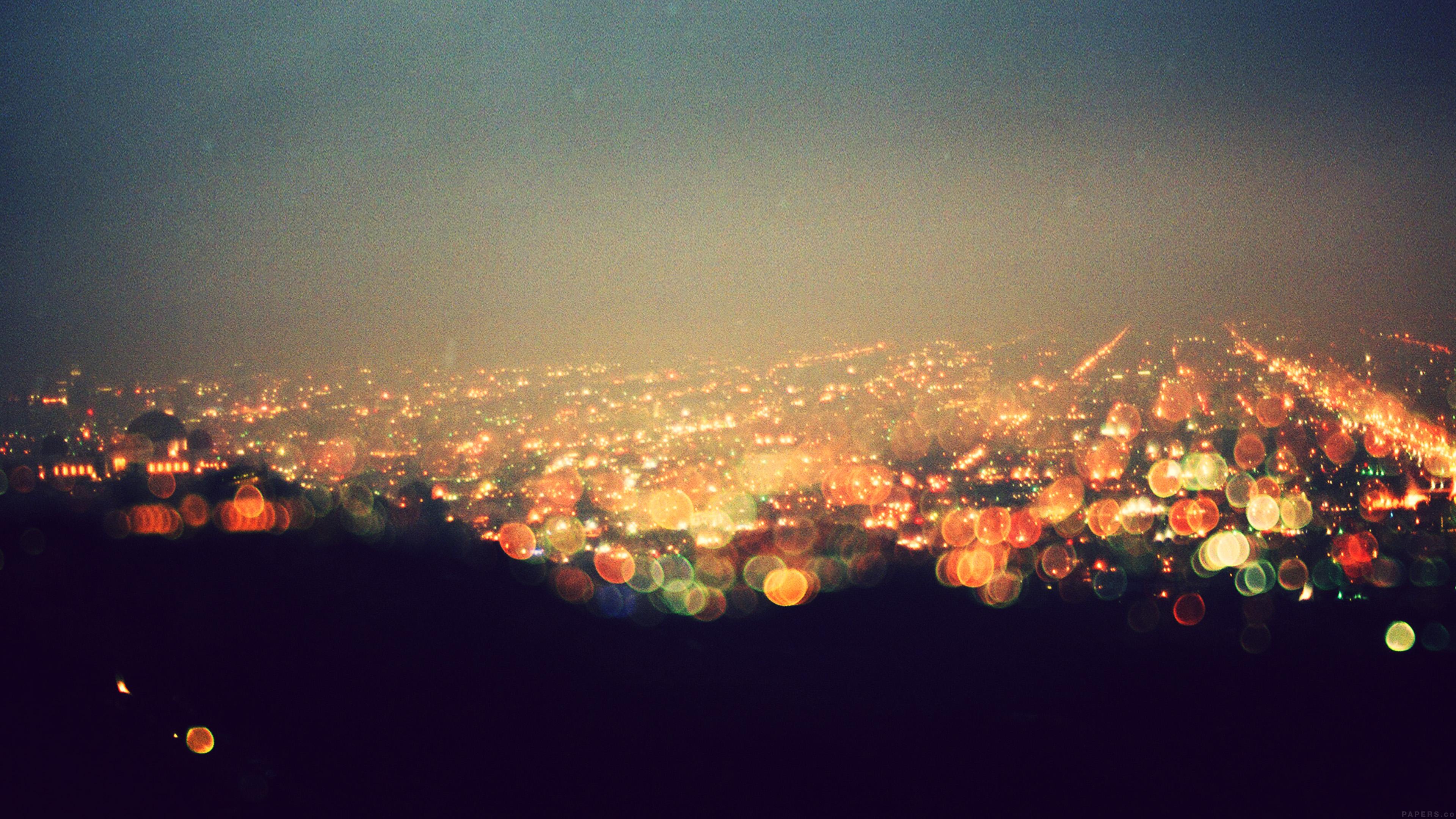 Wallpaper for desktop laptop mq71 bokeh night city view - Night light city wallpaper ...