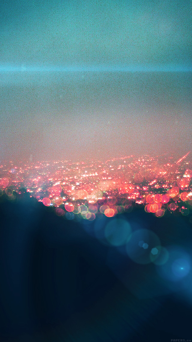 freeios8.com-iphone-4-5-6-plus-ipad-ios8-mq74-bokeh-night-city-view-lights-flare-blue