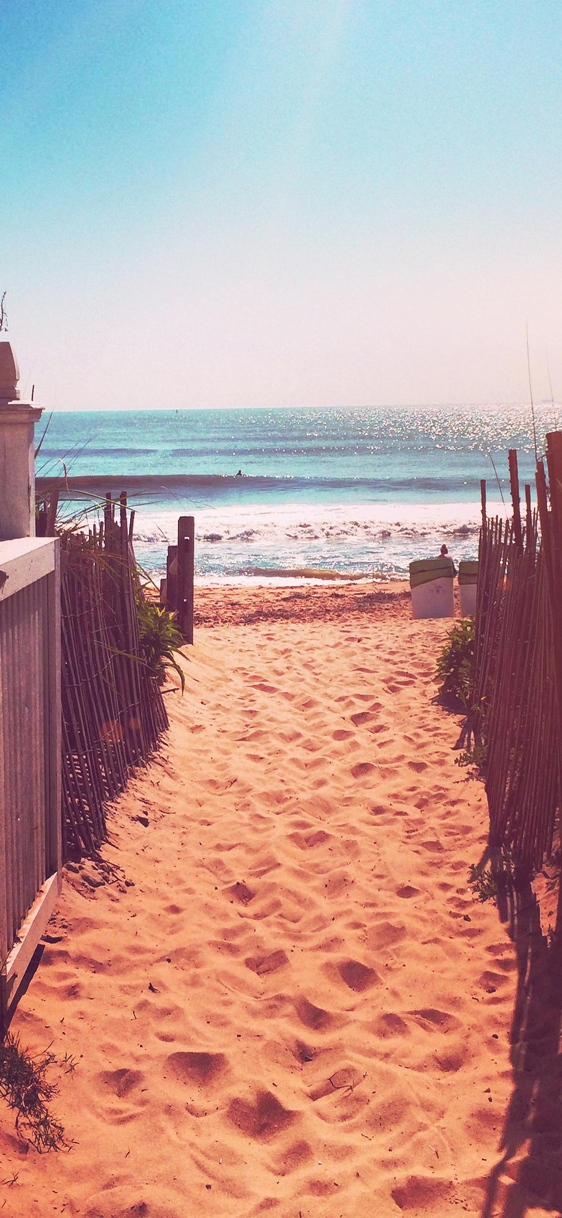 Iphonexpapers Com Iphone X Wallpaper Mq83 Way To Sea Sand Ocean