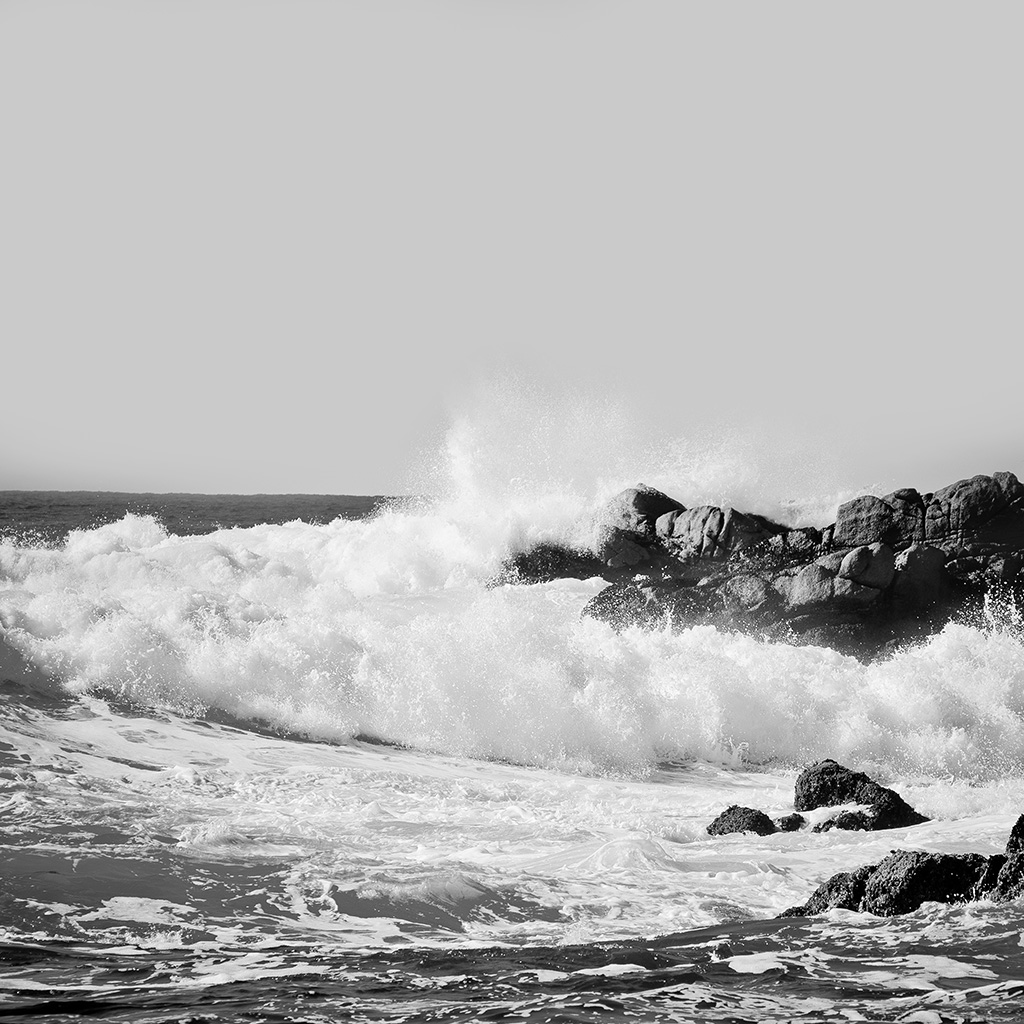 android-wallpaper-mr11-wave-sea-nature-water-cool-bw-dark-wallpaper