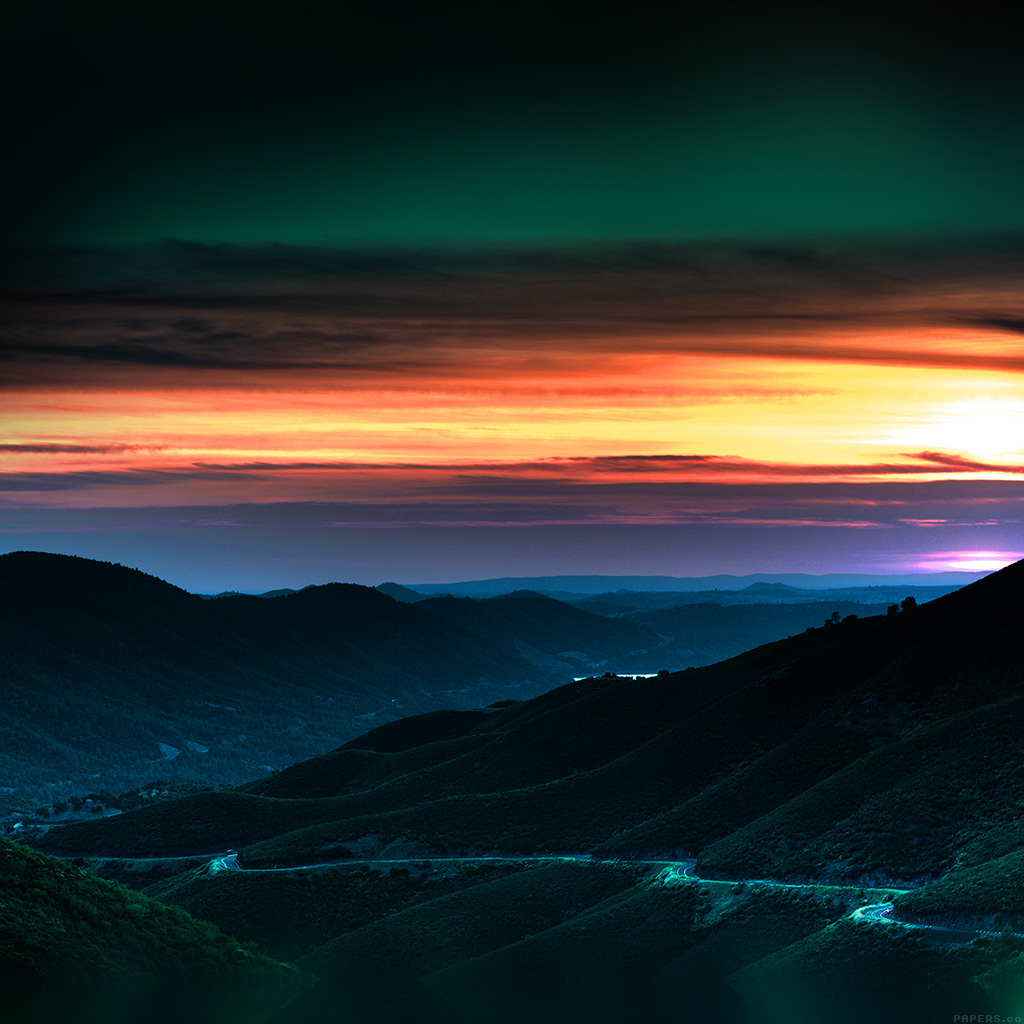 Mr27-road-curve-mountain-sunset-nature-lovely