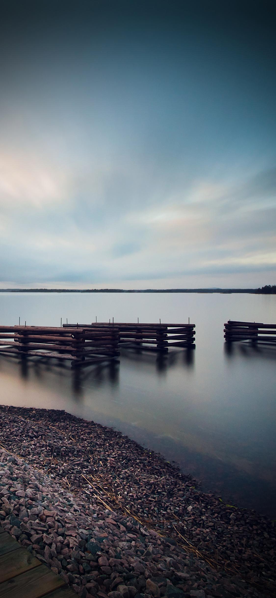 iPhonexpapers.com-Apple-iPhone-wallpaper-mr36-lake-calm-nature-beautiful-sea-water-vignette
