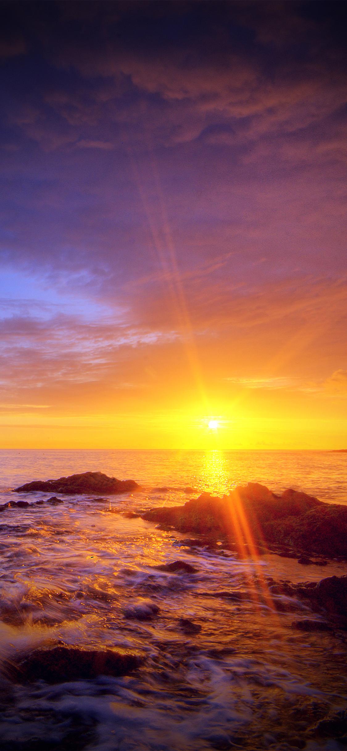iPhoneXpapers.com-Apple-iPhone-wallpaper-mr41-sunshine-evening-sunset-beach-rock-nature-vignette