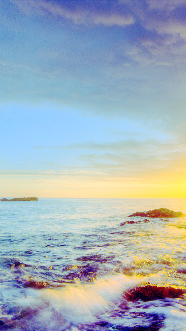 iPhonepapers.com-Apple-iPhone-wallpaper-mr42-sunshine-evening-sunset-beach-rock-nature-blue