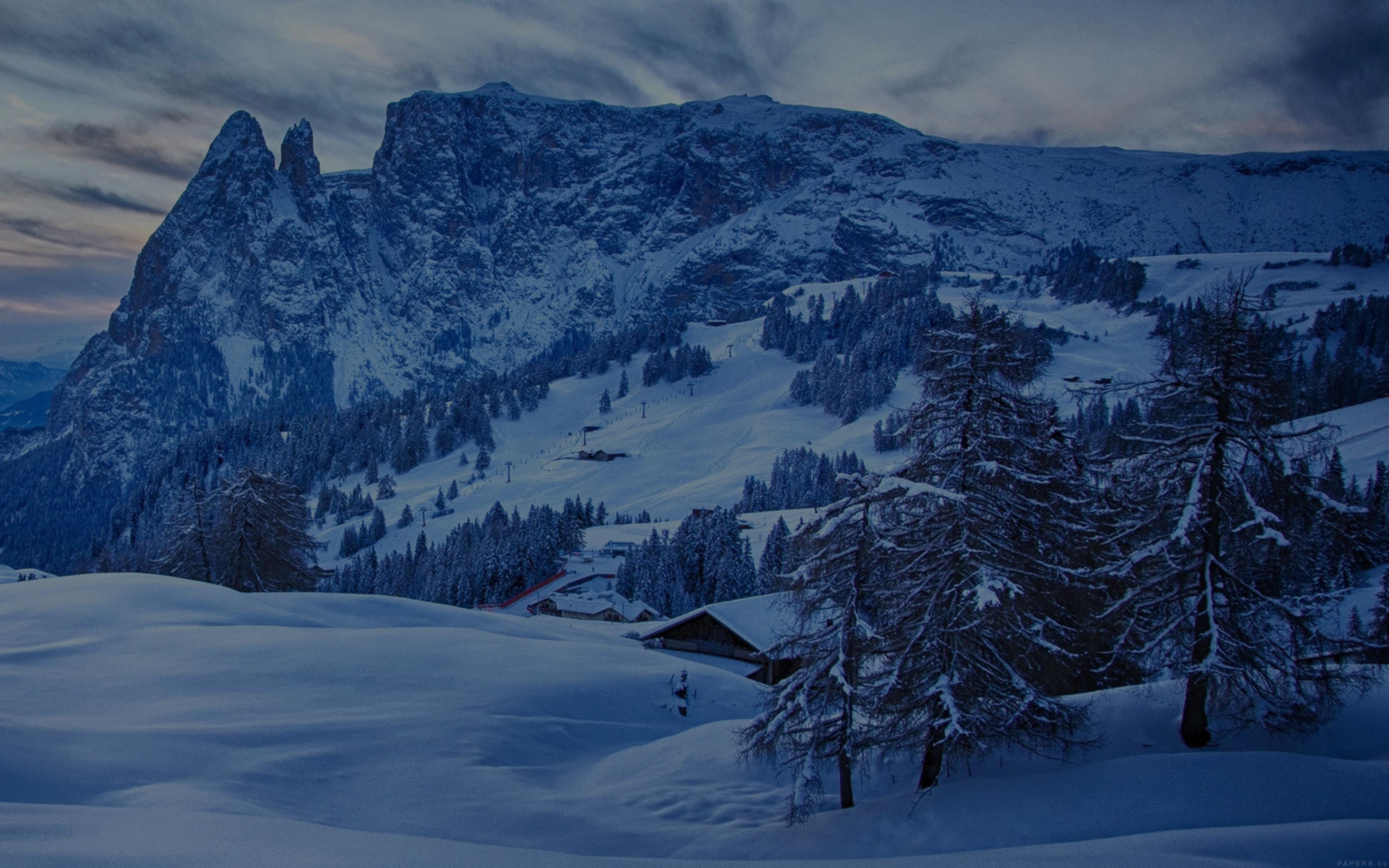 Wallpaper For Desktop Laptop Mr45 Mountain Blue Snow Winter Nature Ski Dark