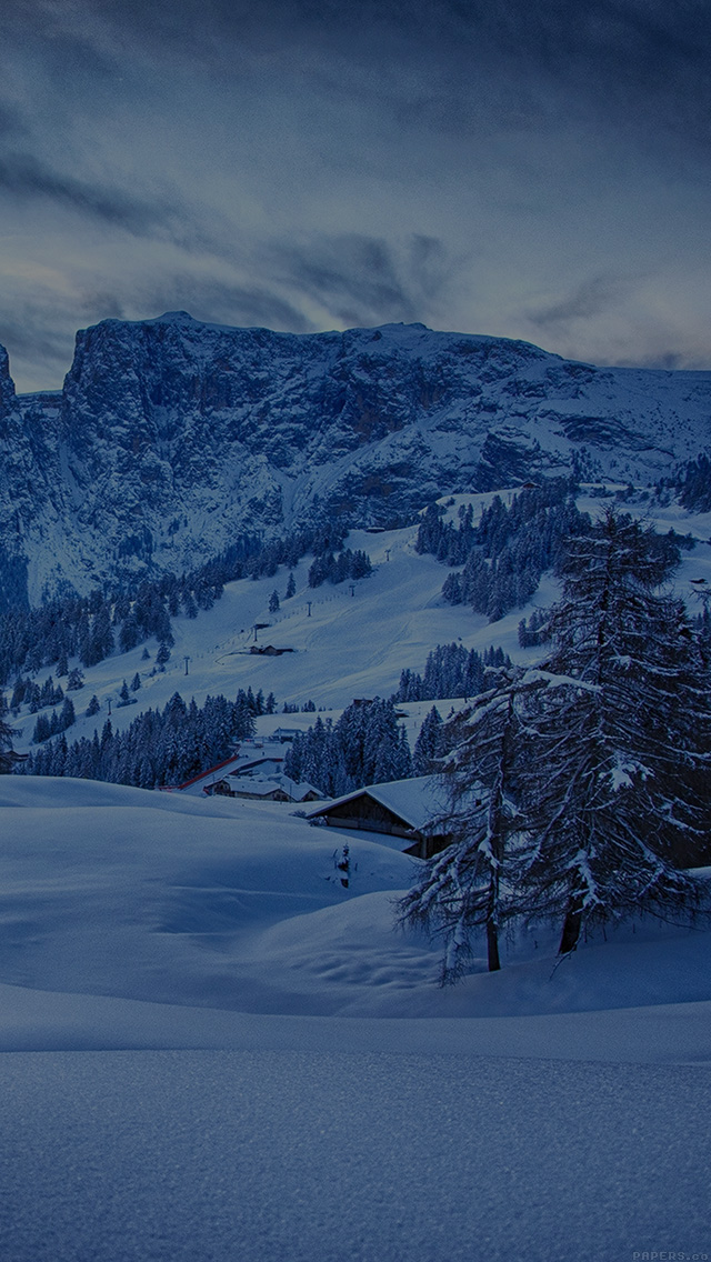 freeios8.com-iphone-4-5-6-plus-ipad-ios8-mr45-mountain-blue-snow-winter-nature-ski-dark