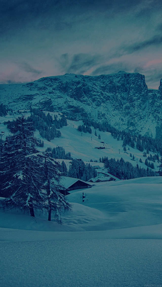 freeios8.com-iphone-4-5-6-plus-ipad-ios8-mr46-mountain-green-snow-winter-nature-ski-dark