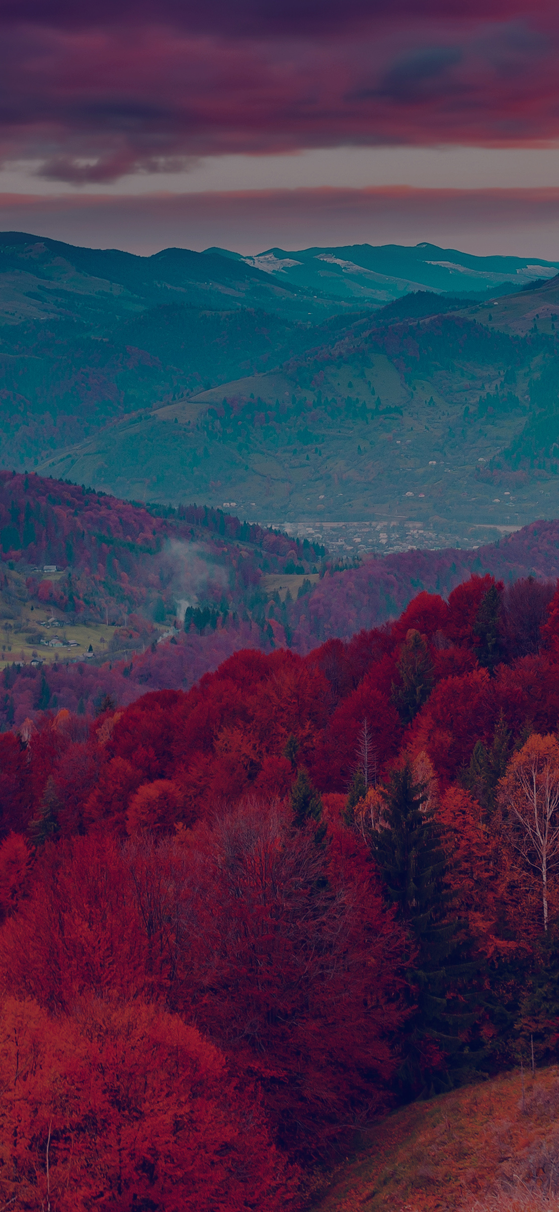 iPhoneXpapers.com-Apple-iPhone-wallpaper-mr53-fall-mountain-fun-red-tree-nature-dark-beautiful