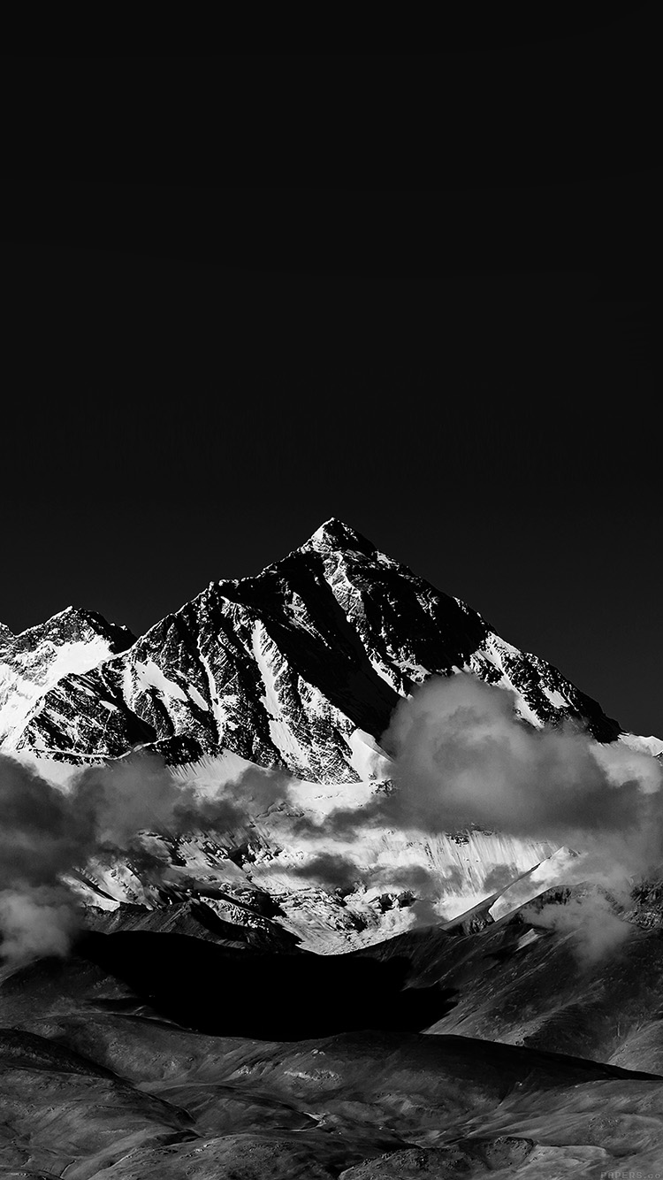 Papers.co-iPhone5-iphone6-plus-wallpaper-mr57-snow-solo-mountain-high-nature-dark-bw