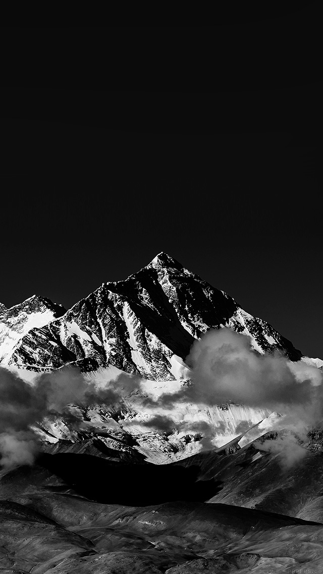 freeios8.com-iphone-4-5-6-plus-ipad-ios8-mr57-snow-solo-mountain-high-nature-dark-bw