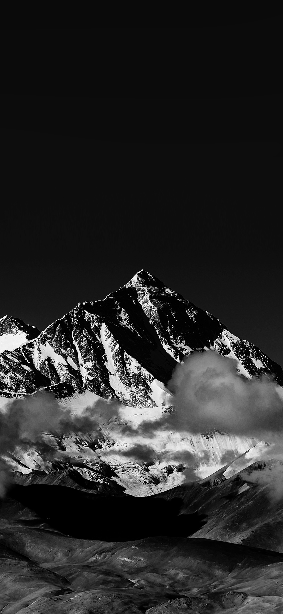 iPhonexpapers.com-Apple-iPhone-wallpaper-mr57-snow-solo-mountain-high-nature-dark-bw