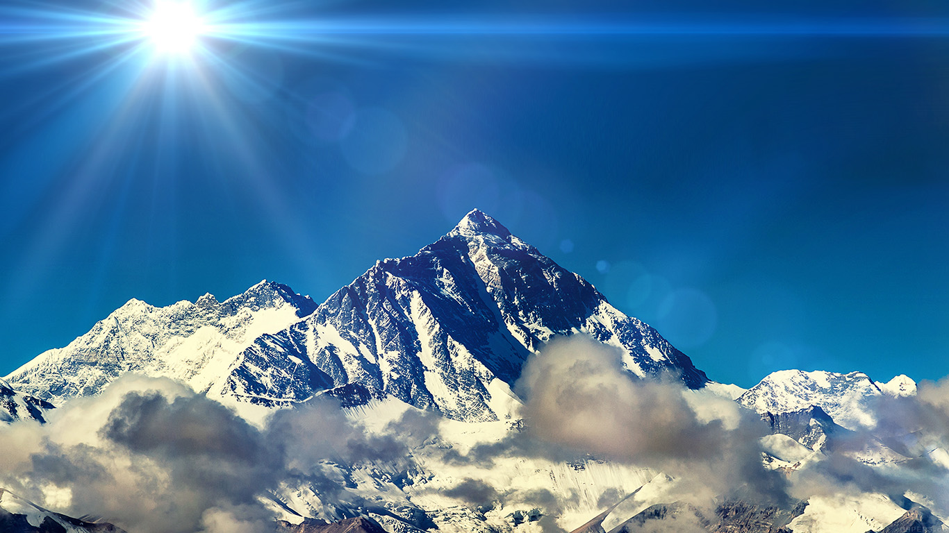 desktop-wallpaper-laptop-mac-macbook-air-mr59-snow-solo-mountain-high-nature-blue-flare-wallpaper