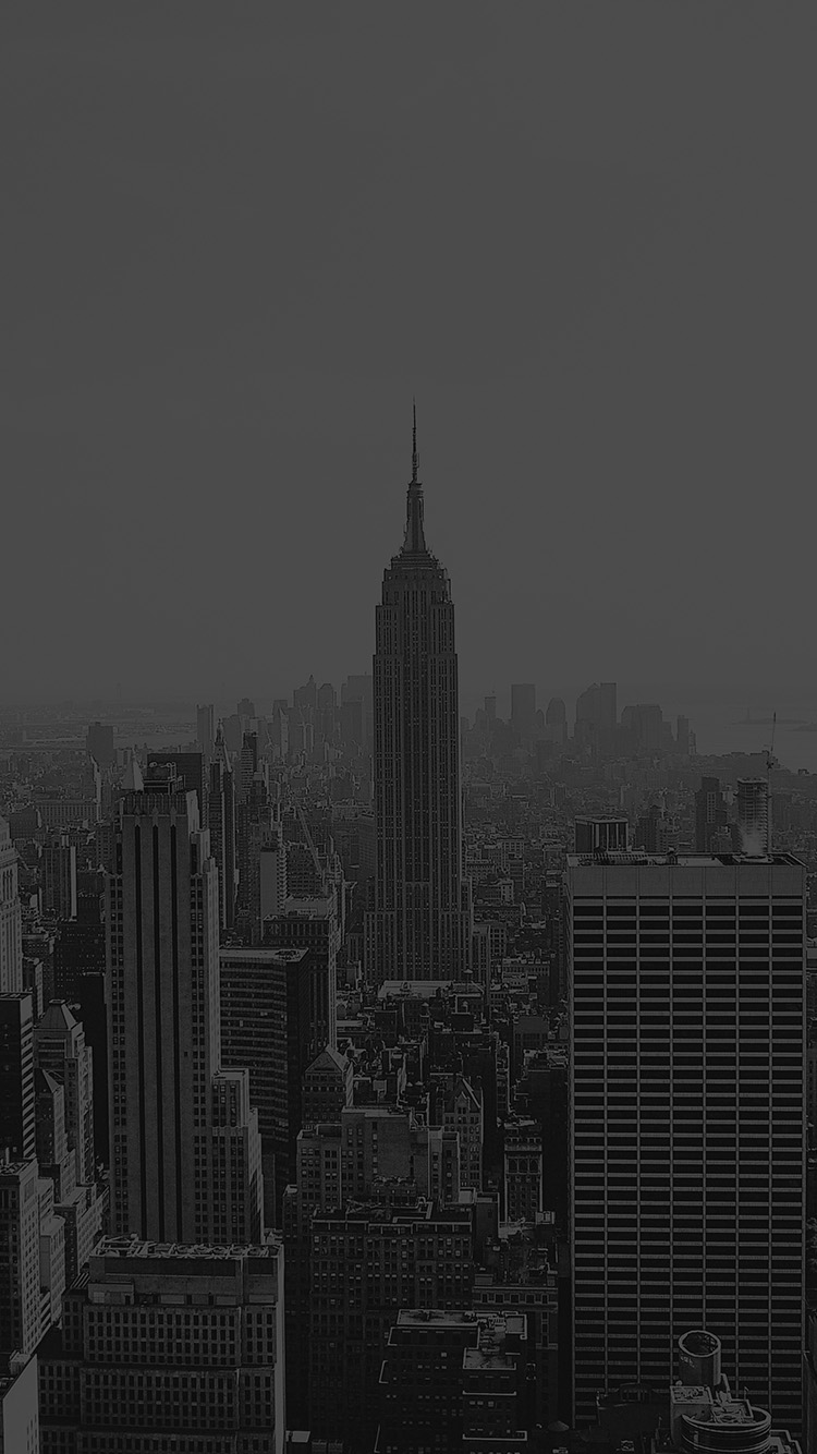 Iphonepapers Com Iphone  Wallpaper Mr Building Architecture City Newyork Empire Dark Bw
