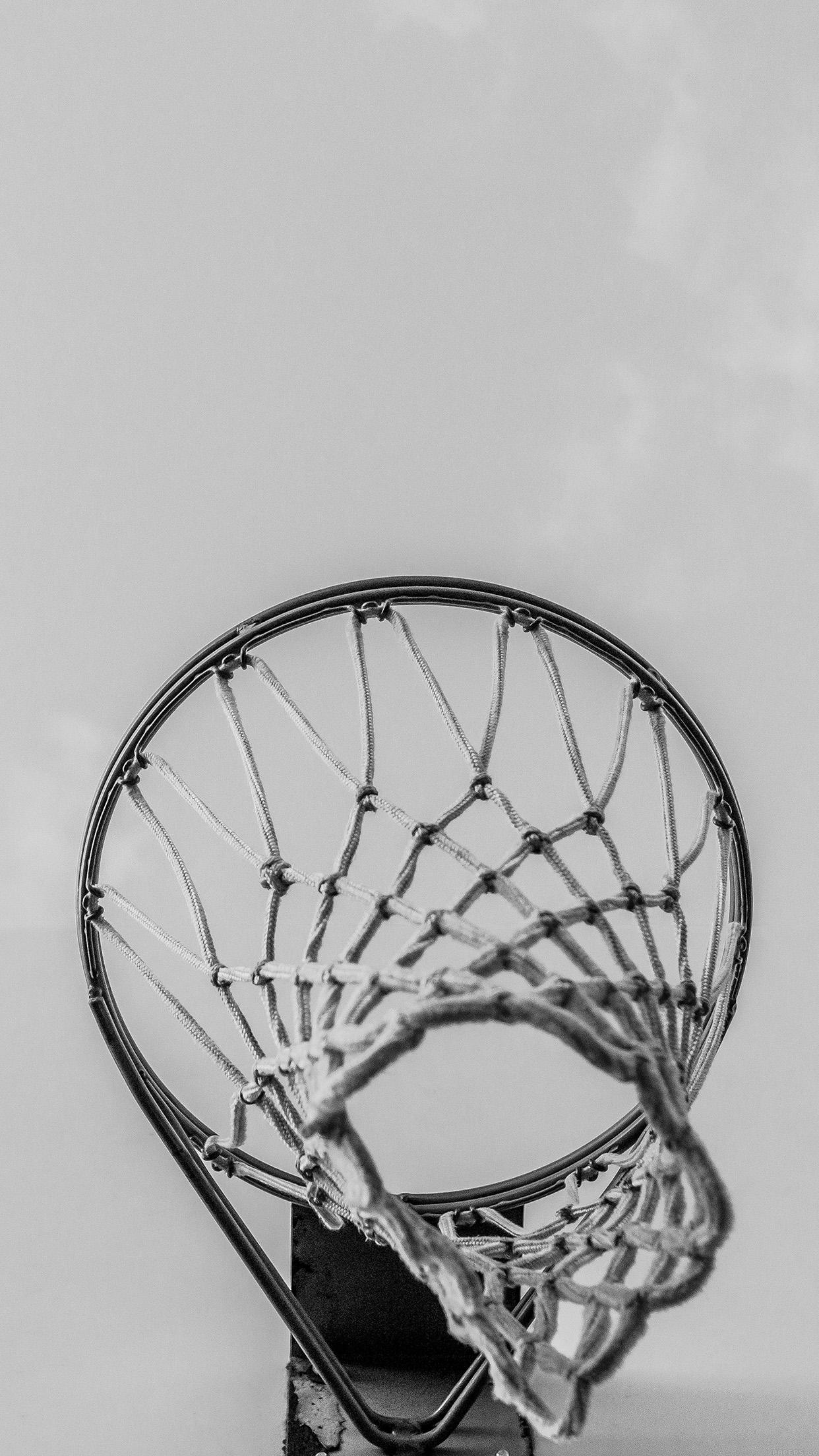 Mr98 Basketball Rim Red Sports Dark Wallpaper