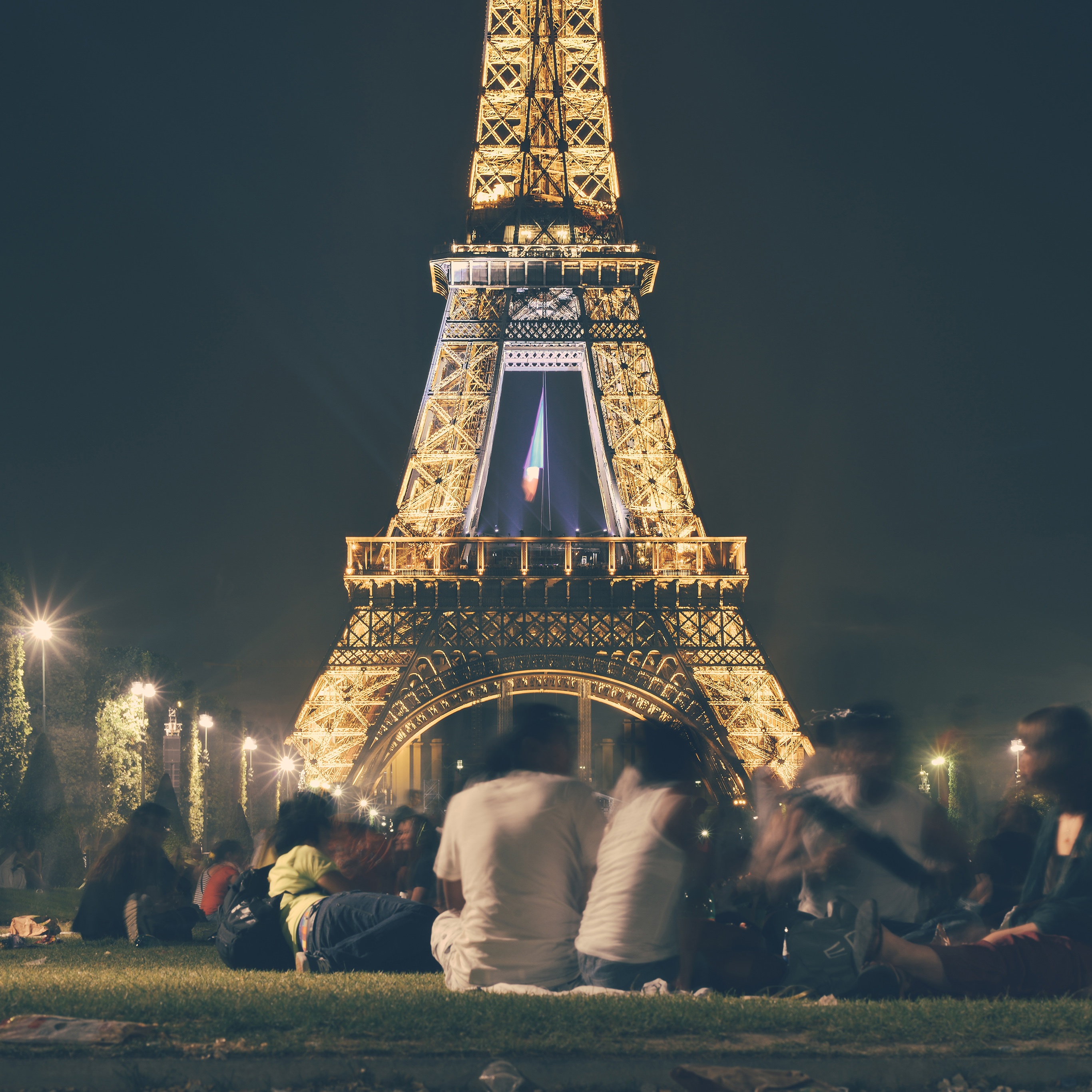 Androidpapers Co Ms38 Happy Paris Eiffel Tower France Tour Night City