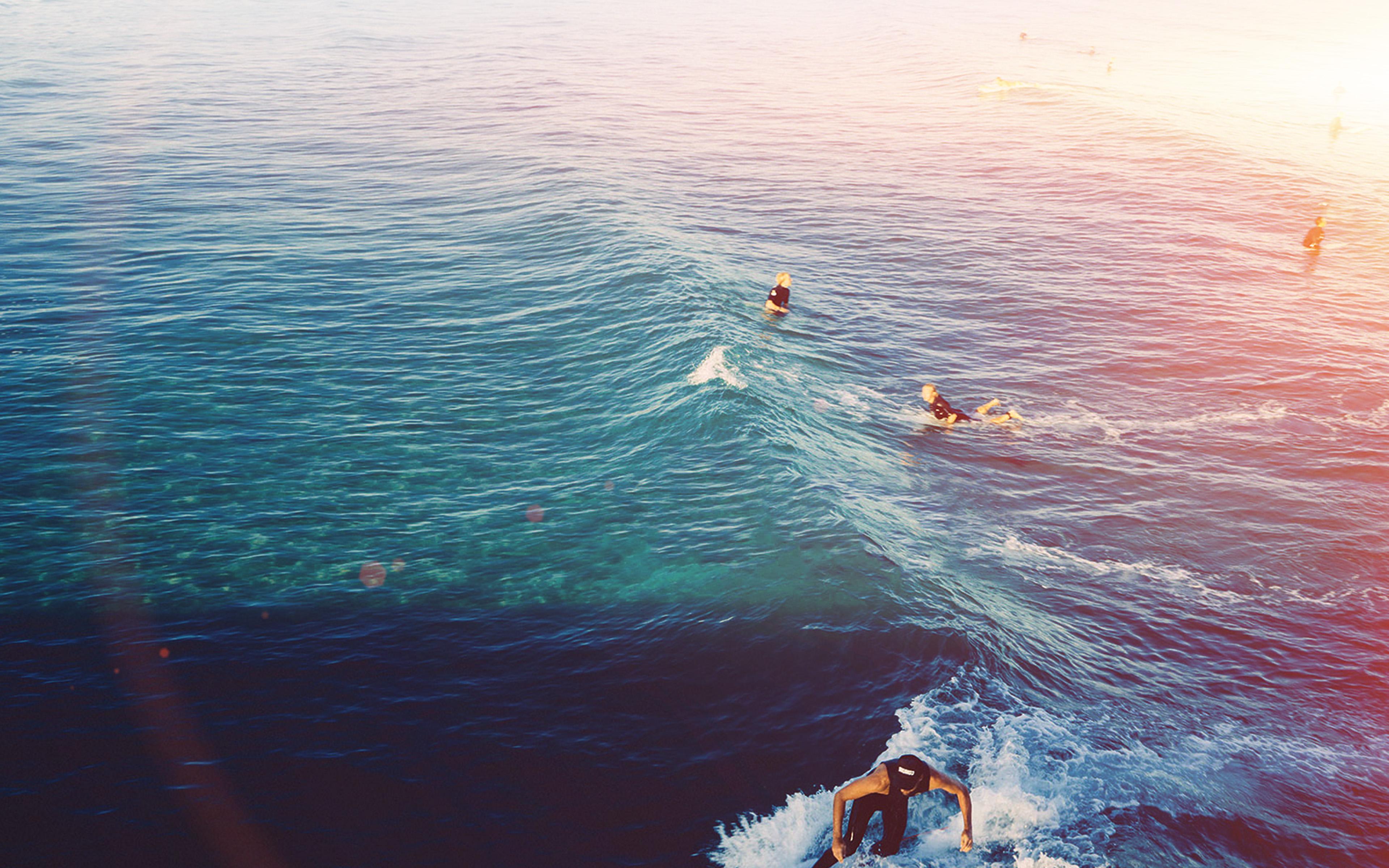 Ms59 Surfing Wave Summer Sea Ocean Flare Wallpaper