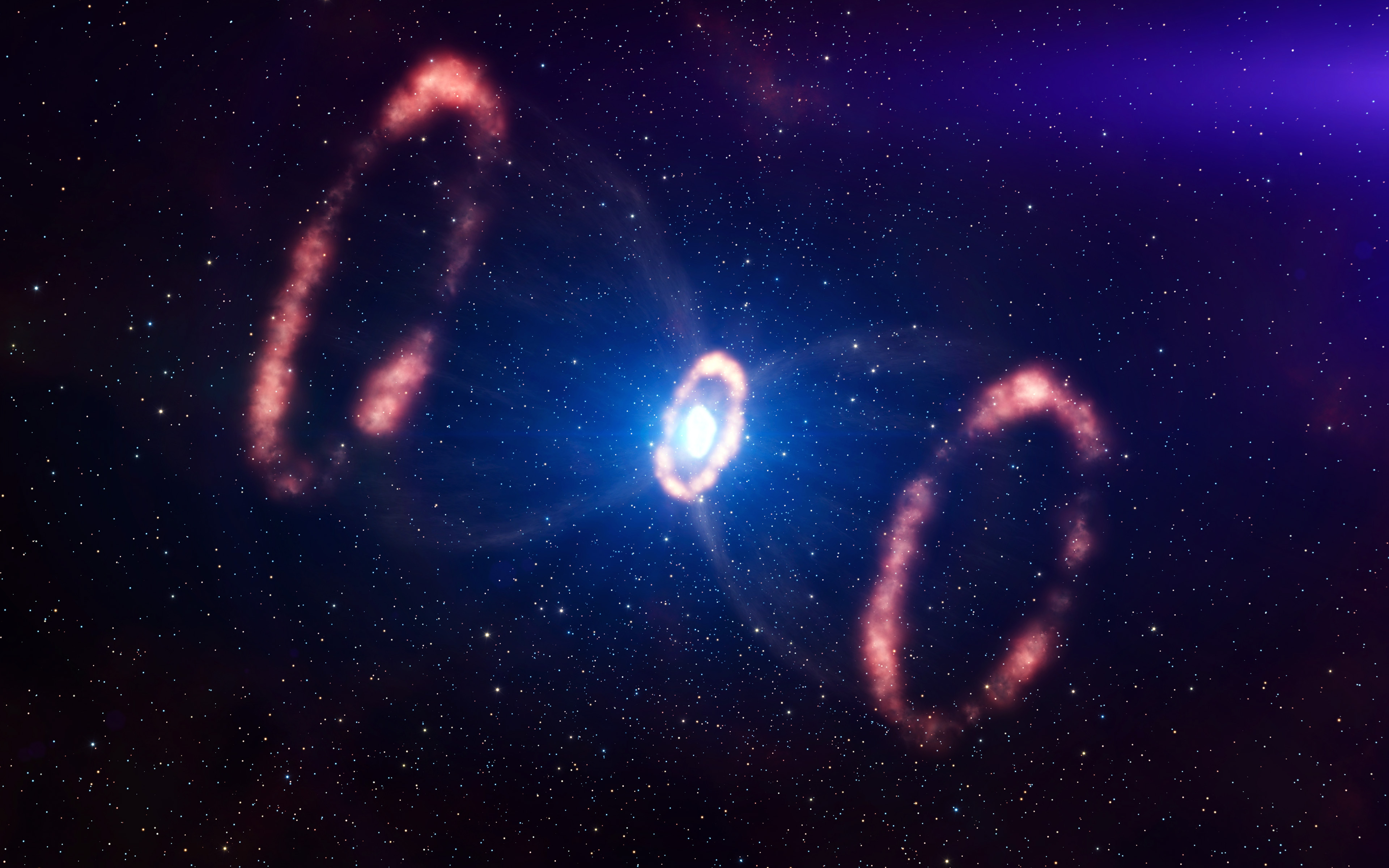 papers.co mt21 space dark sky galaxy night beautiful blue flare 36 3840x2400 4k wallpaper