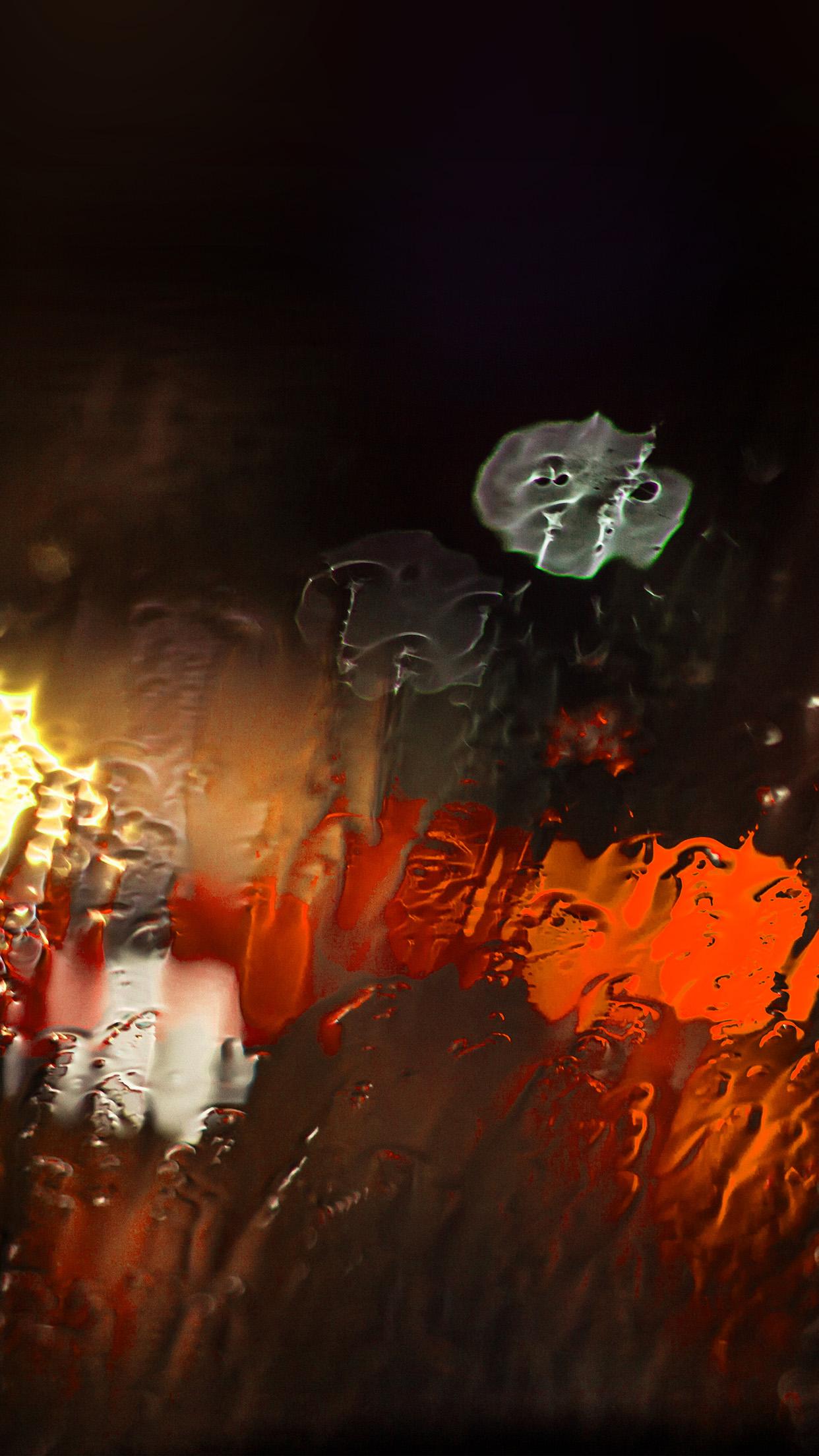 Papers Co Iphone Wallpaper Mt24 Raining Window Bokeh Red
