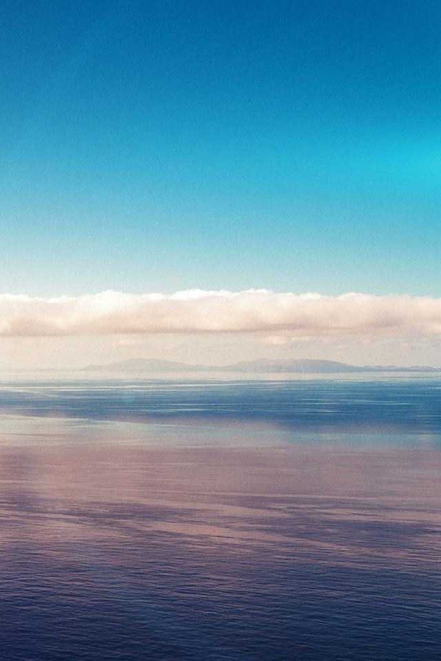 Mt27 Blue Sky Nature Ocean View Flare Wallpaper