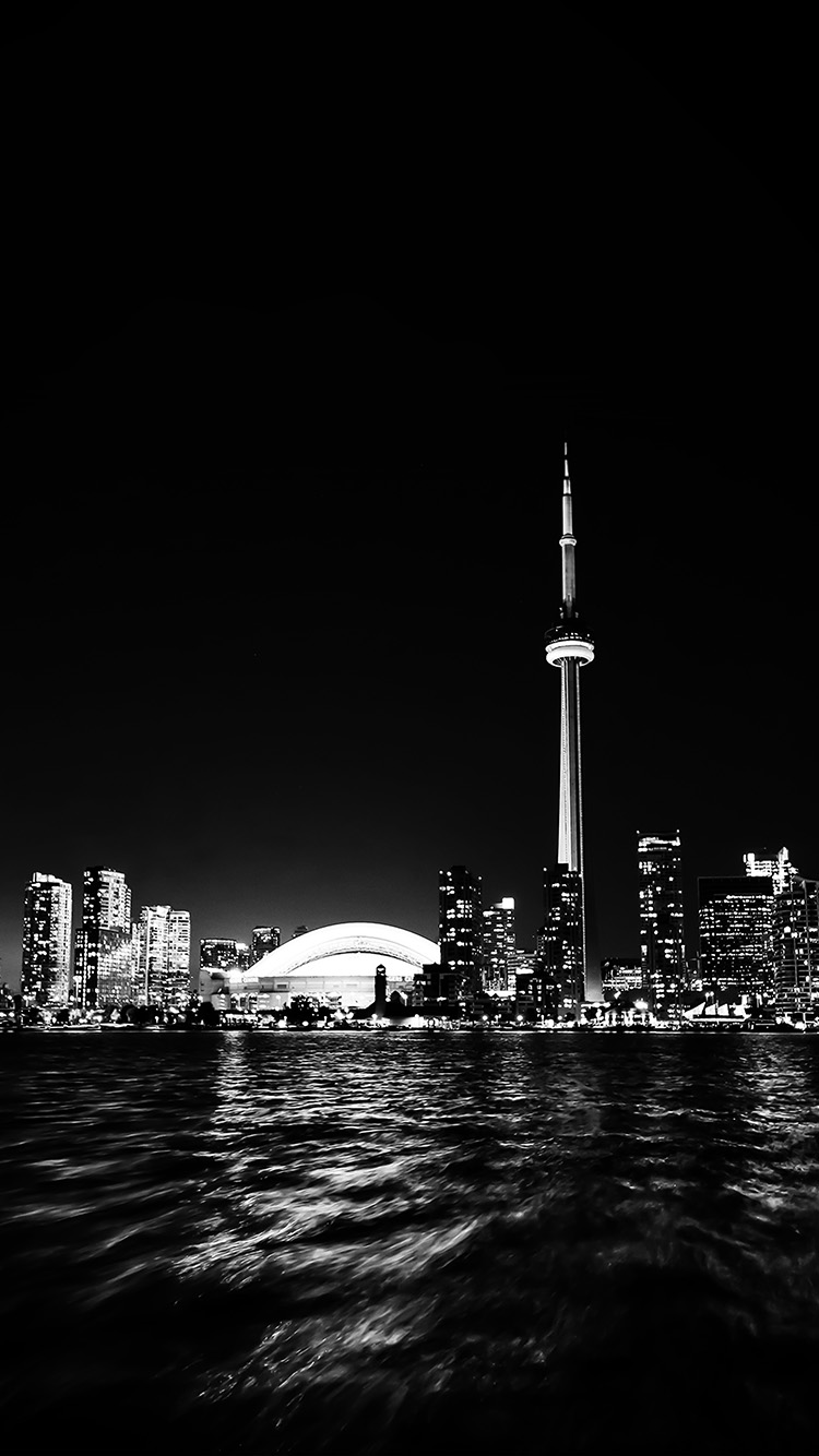 iPhone7papers.com-Apple-iPhone7-iphone7plus-wallpaper-mt45-toronto-city-night-missing-tower-dark-cityview-bw
