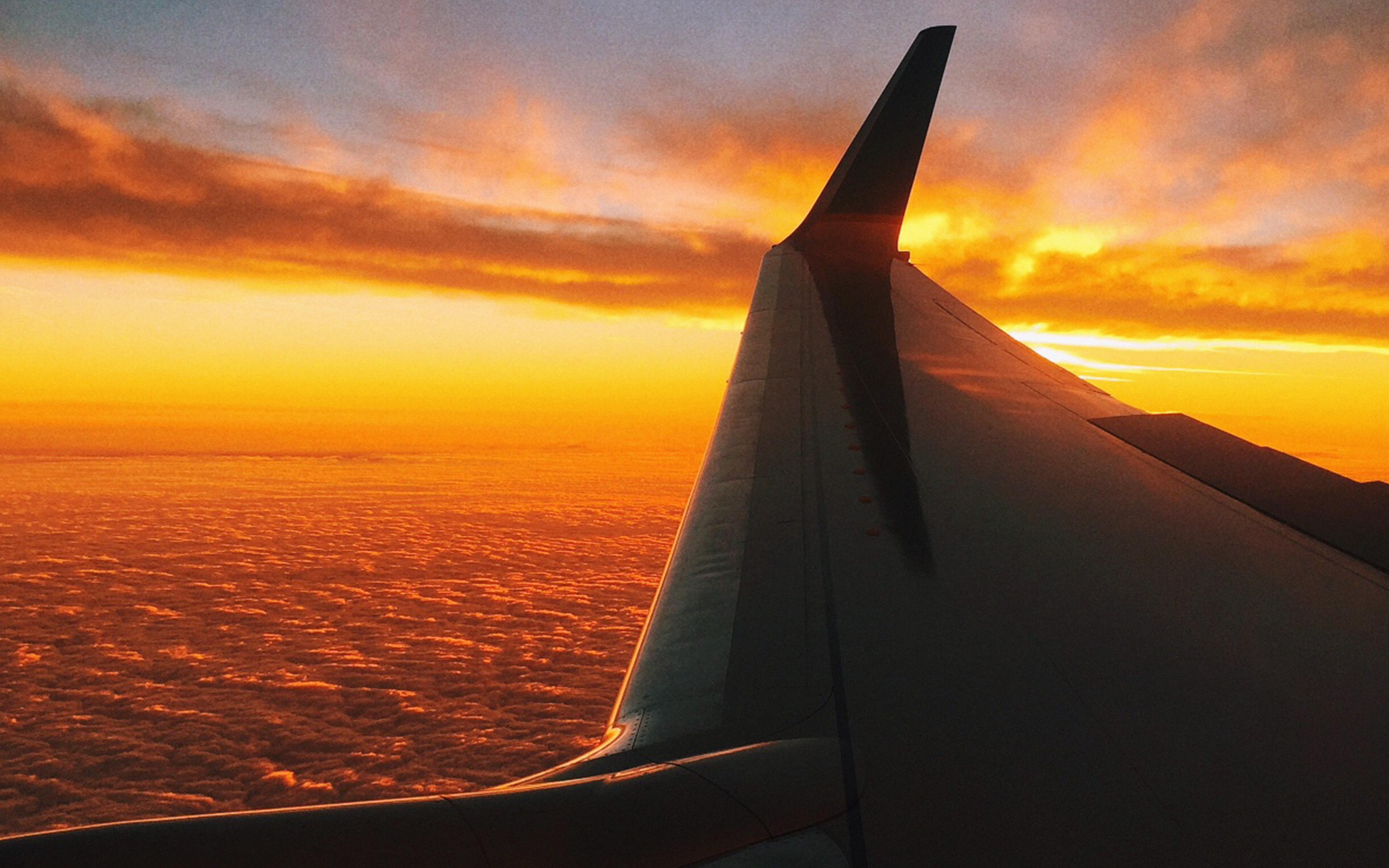 Wallpaper For Desktop Laptop Mt49 Fly Travel Sunset Red Nature Air Sky