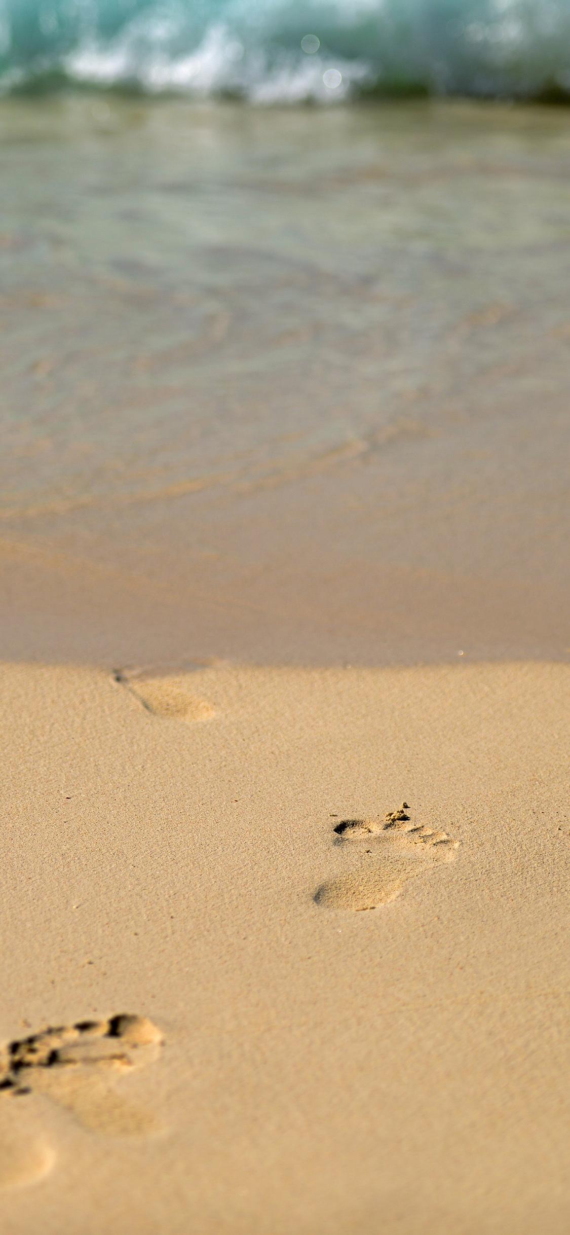 iPhoneXpapers.com-Apple-iPhone-wallpaper-mt59-sea-beach-footprint-vacation-summer