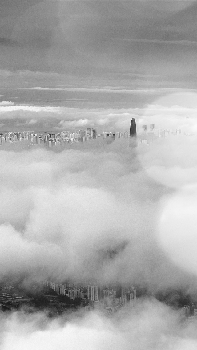 freeios8.com-iphone-4-5-6-plus-ipad-ios8-mt75-city-in-fog-cloud-nature-sky-flare-dark-bw