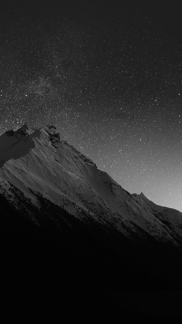 iPhone6papers.co-Apple-iPhone-6-iphone6-plus-wallpaper-mt90-mountain-night-snow-dark-star-bw