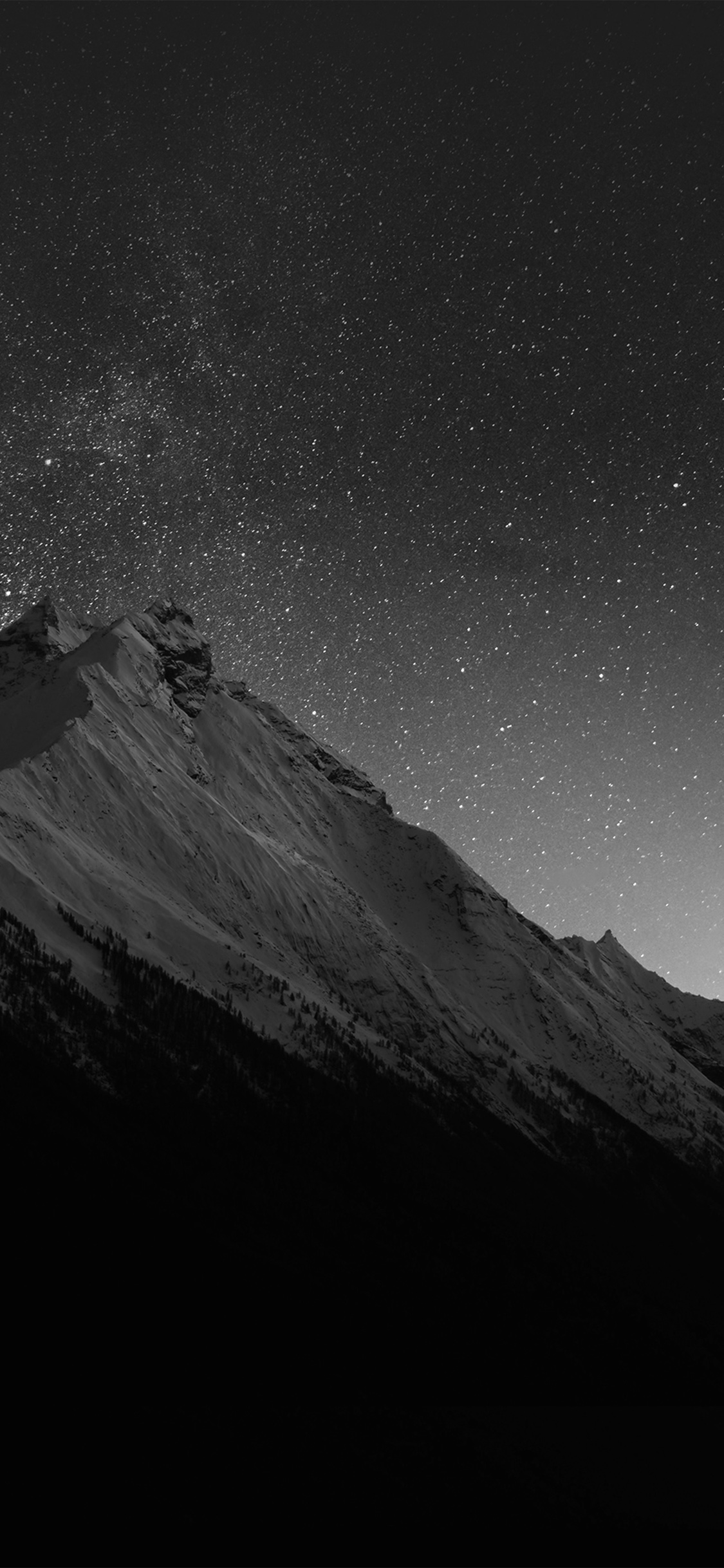 iPhoneXpapers.com-Apple-iPhone-wallpaper-mt90-mountain-night-snow-dark-star-bw