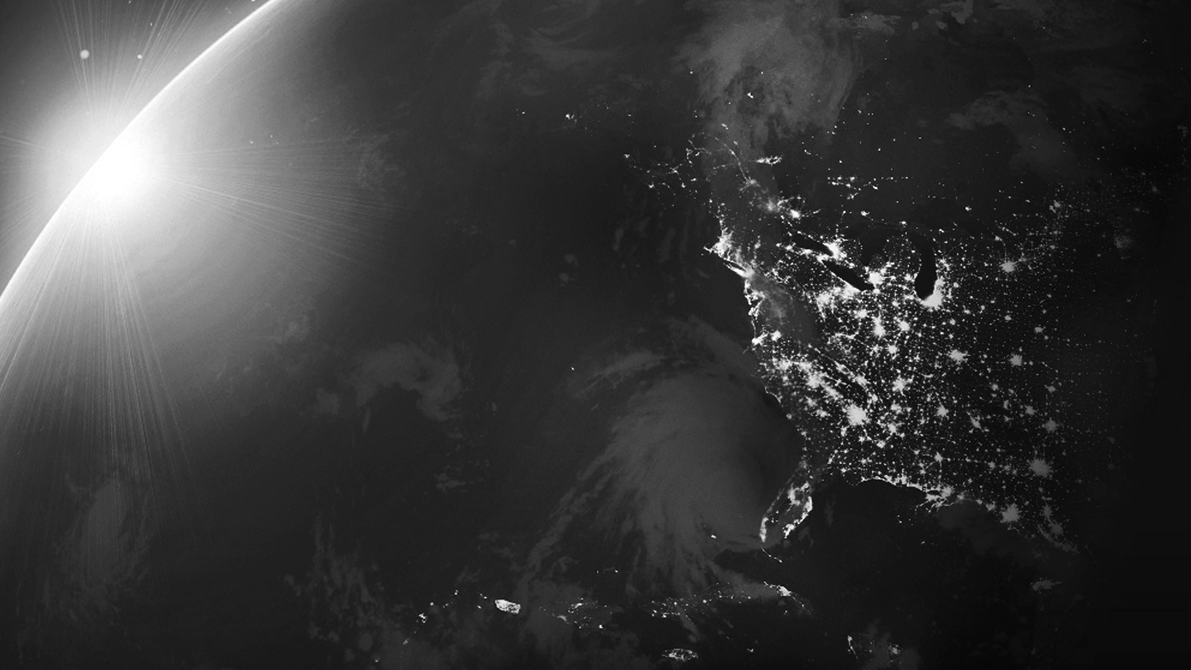Mt96 Space Light Sun Huawei Background Nature Art Dark Bw