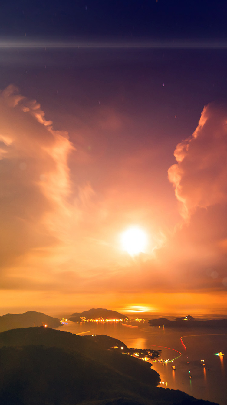 iPhone6papers.co-Apple-iPhone-6-iphone6-plus-wallpaper-mu05-british-night-sunset-lake-sea-mountain-nature-flare
