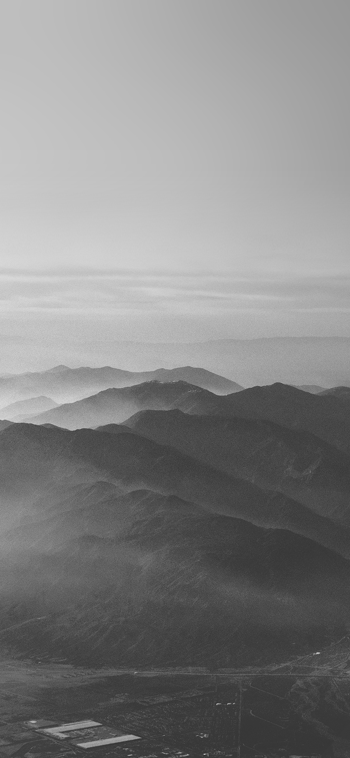 iPhoneXpapers.com-Apple-iPhone-wallpaper-mu40-mountain-fog-nature-dark-bw-gray-sky-view