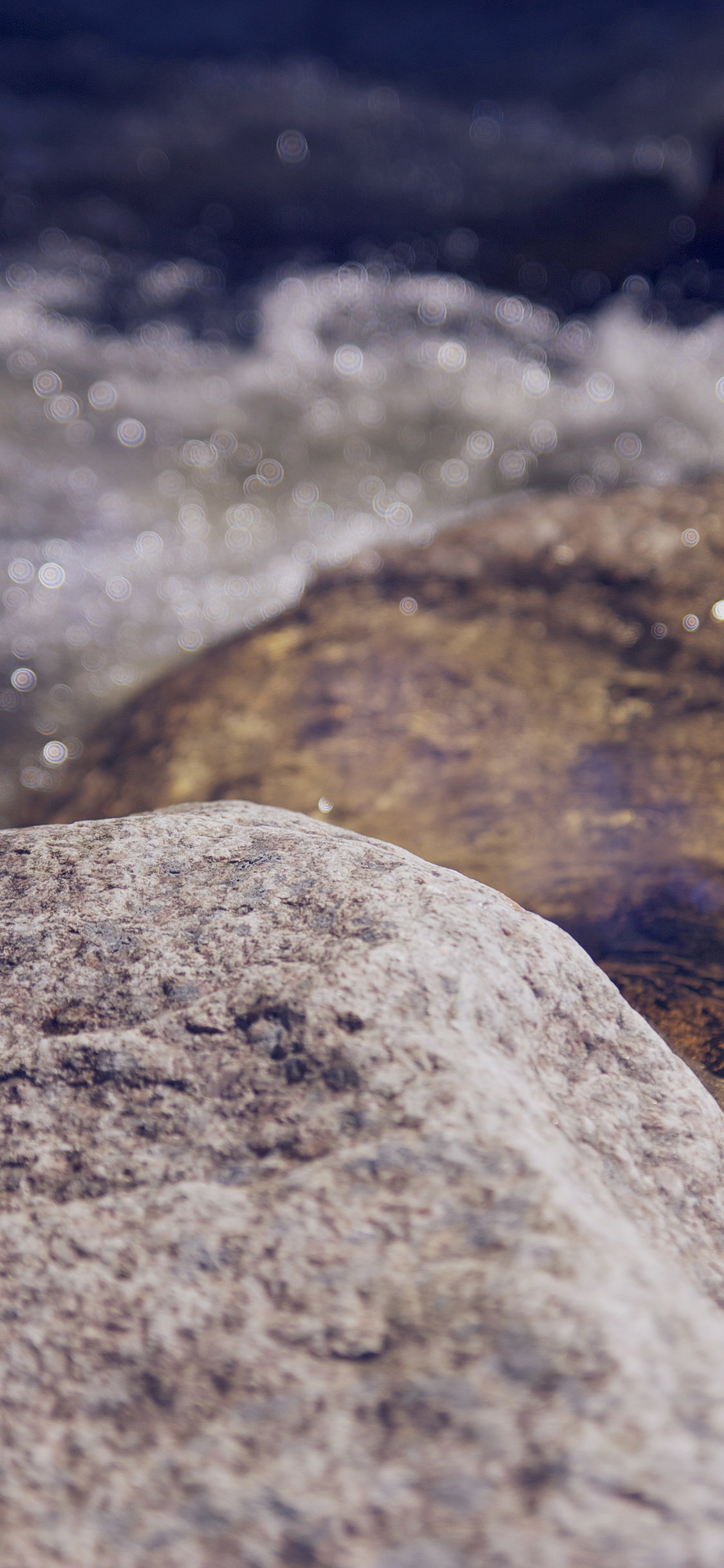 iPhoneXpapers.com-Apple-iPhone-wallpaper-mu83-water-rocks-river-nature-bokeh-flare